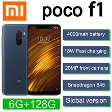 Versão global xiaomi poco f1 smartphone snapdragon 845 2246*1080 pixel 4000mah bateria 20mp câmera frontal 18w carregamento rápido