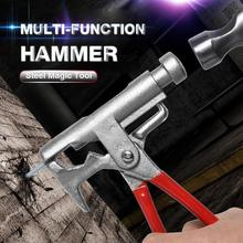 Multi-Function Hammer Universal Steel Magic Tool 10 Kinds of Pipe Wrench Iron Hand Tool Non Slip Plastic Grip Perfect Tool
