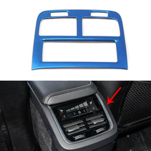 For Volvo XC60 2018 -2020 Rear Air Conditioner Vent Outlet Panel Cover Car Interior Decorative Accessories