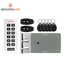 Easy Installation Wireless Security Electronic Door Lock with Battery Operated Access Control Keypad and Remote Control complete rfid door access control system kit set with electric lock power supply keypad door bell remote control 10 keys