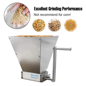 Image 3 - ステンレス鋼 2 ローラー麦芽ミルクラッシャーホーム醸造穀物クラッシャーマニュアル調整可能な大麦グラインダー木製ベース
