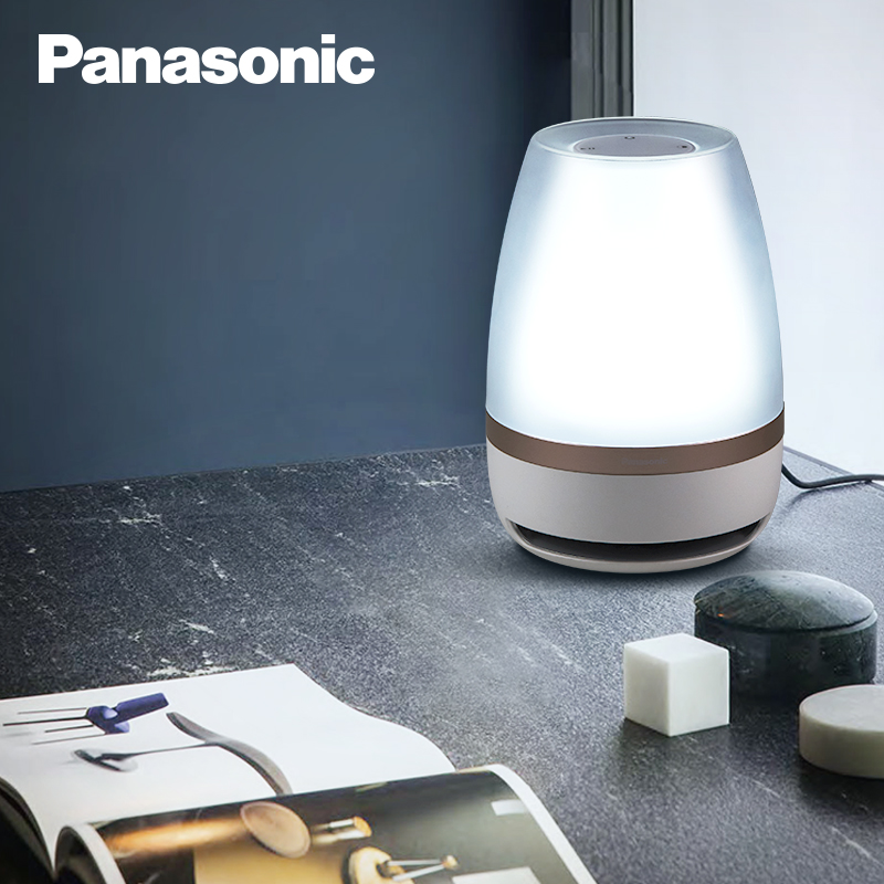 Panasonic veilleuse tactile capteur Bluetooth haut parleur lumière télécommande lampe LED sans fil intelligent musique lampe de Table - 4