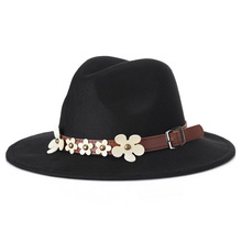 Fashion Women Safari Outdoor Hat 2020 Autumn-Winter New Style Small White Flowers Decoration British Casual Jazz In Stock