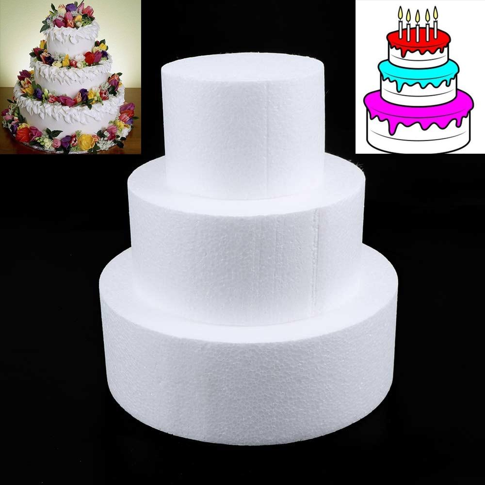 4//6//8 inch Kitchen Sugarcraft Dummy Party DIY Practice Model Cake Foam Mould
