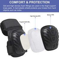 Ochraniacze na kolana robocze z wyściółką żelową regulowane ramiączka do prac ogrodniczych i sprzedaży w Nakolanniki od Bezpieczeństwo i ochrona na