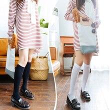 Womens Thin Summer Nylon Knee Socks White Stockings Girls korean japanese kawaii lolita Socks Thigh High Knee Socks long socks