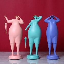 Изысканная пухлая женщина художественная скульптура украшение мода абстрактная женщина идея домашнего декора