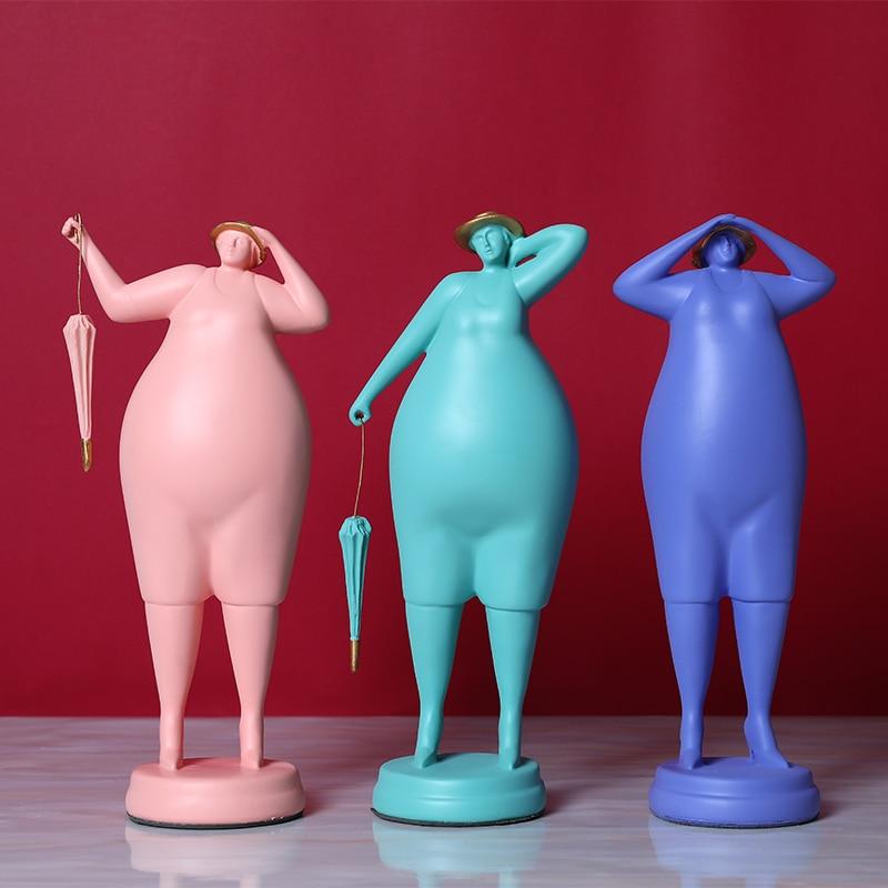 Exquisite Plump Woman Art Sculpture Decoration Fashion Abstract Woman Home Decor Idea