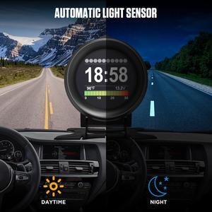 Image 5 - AUTOOL X60 OBD2 Display Speedmeter Tachometer Battery Voltage Water Oil Temperature Gauge Pressure Mileage Auto Scanner HUD