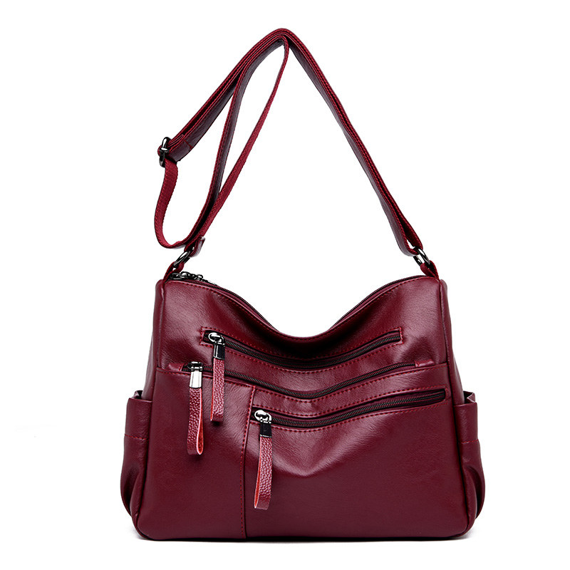 Female Messenger Bag Sac A Main Femme Crossbody Bags For Women Leather Shoulder Bags Vintage Handbags High Quality Ladies Bag