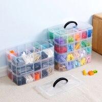 Lego Building Blocks storage Box Plastic Transparent 1