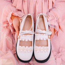 Lolita Kawaii Cosplay Shoes Mary Jane Shoes for Women Low Heels Pumps Block Heel Cute Student Shoes College Girl Uniform Shoes 12 5cm block high heel gothic queen cosplay shoes buckle straps lolita pumps shoes