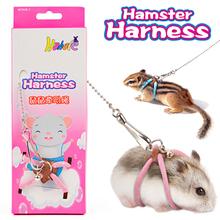 Hamster-Harness Leash Gerbil Guinea-Pig Adjustable Bird-Parrot with Bells MINI for Mice