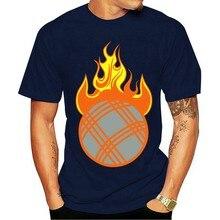 2021 camiseta de algodão de moda camisa petanque chama fireball 1110 t masculina algodão