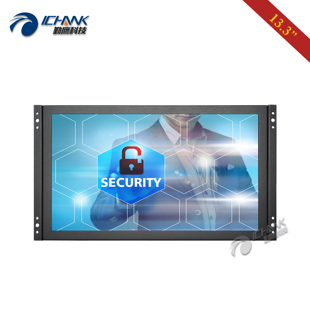 "ZK133TC-25D/13.3"" inch 1920x1080p 16:9 HDMI USB Embedded Open Frame Power On Boot Capacitive Touch LCD Screen PC Monitor Display"