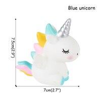 1pcs Blue Unicorn