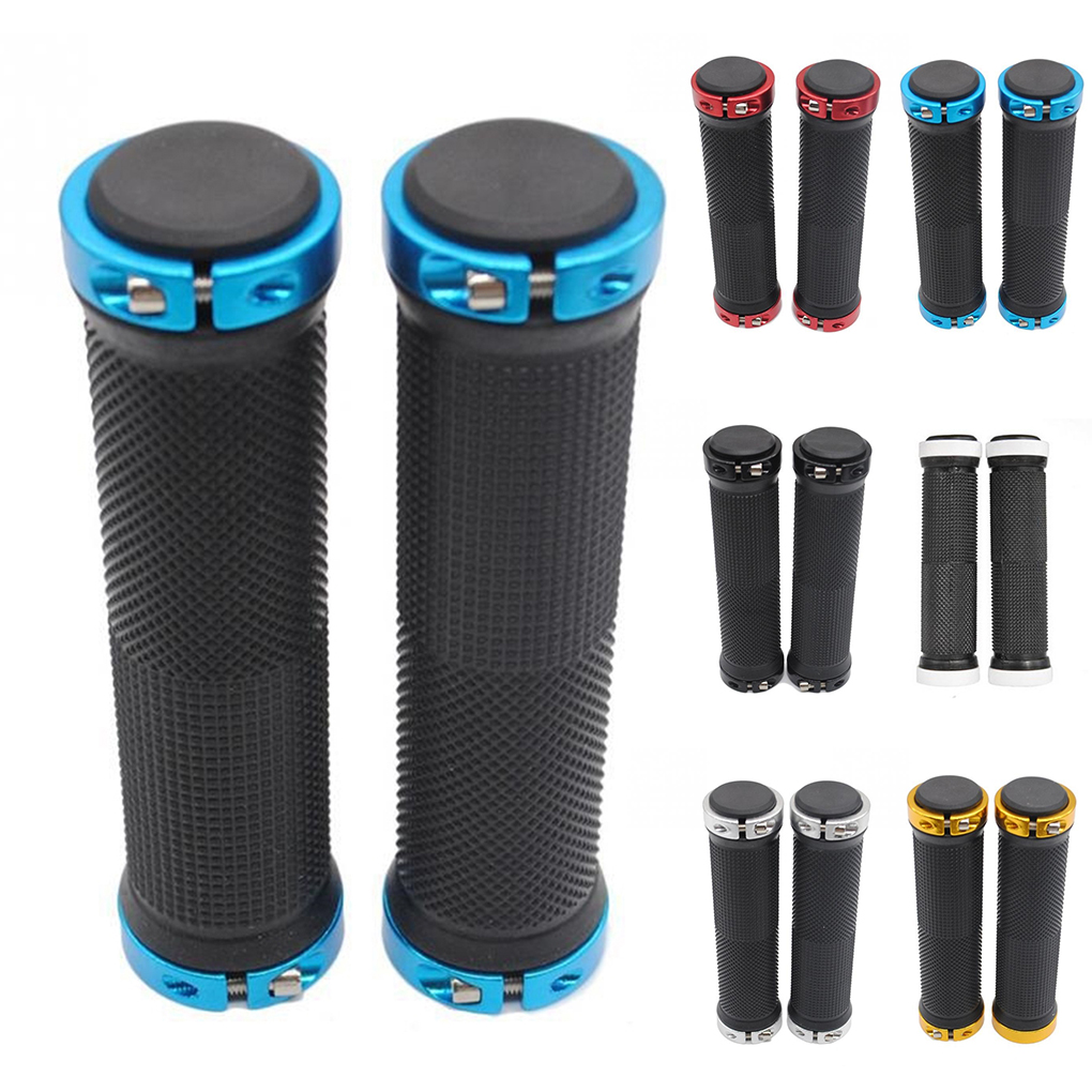1 Pair Handlebar Grips Bicycle Road Mountain Bike Handle Double Lock On Aluminium Alloy Bike Handlebar Hand Cover
