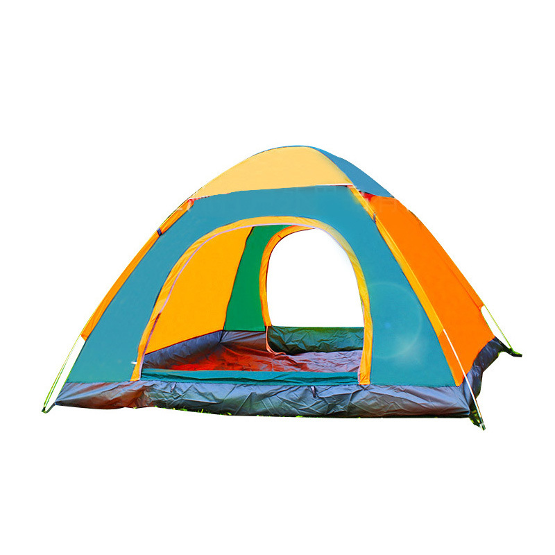 2-Second Speed Open Tent Outdoor 3-4 People Fully Automatic Double Camping Water Resistant Sun-resistant Camping Tent