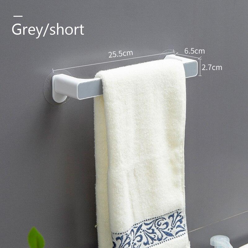 Towel rack free punching toilet bathroom suction cup hook towel rack shelf wall mounted towel bar finishing rack