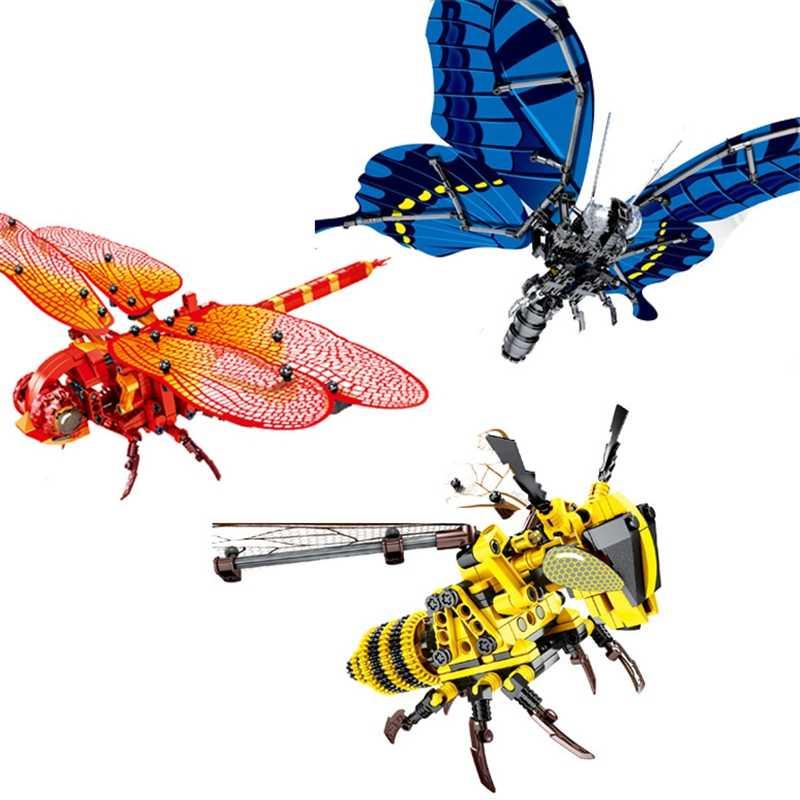 Ручная ОСА имитация насекомых DIY пчела ОСА Стрекоза бабочка строительные блоки Совместимость с legoingly кирпичи набор образовательных игрушек fo