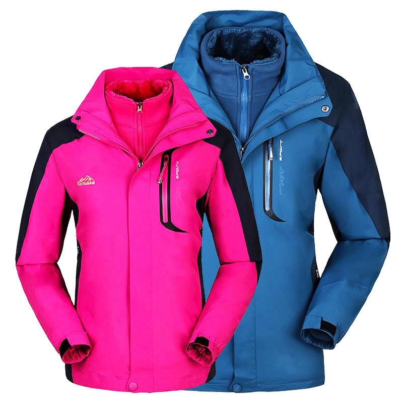 Winter Ski Jacket Men Women Thermal Waterproof Windproof Breathable Snow Skiing Snowboard Jackets Outdoor Climbing Hiking Jacket