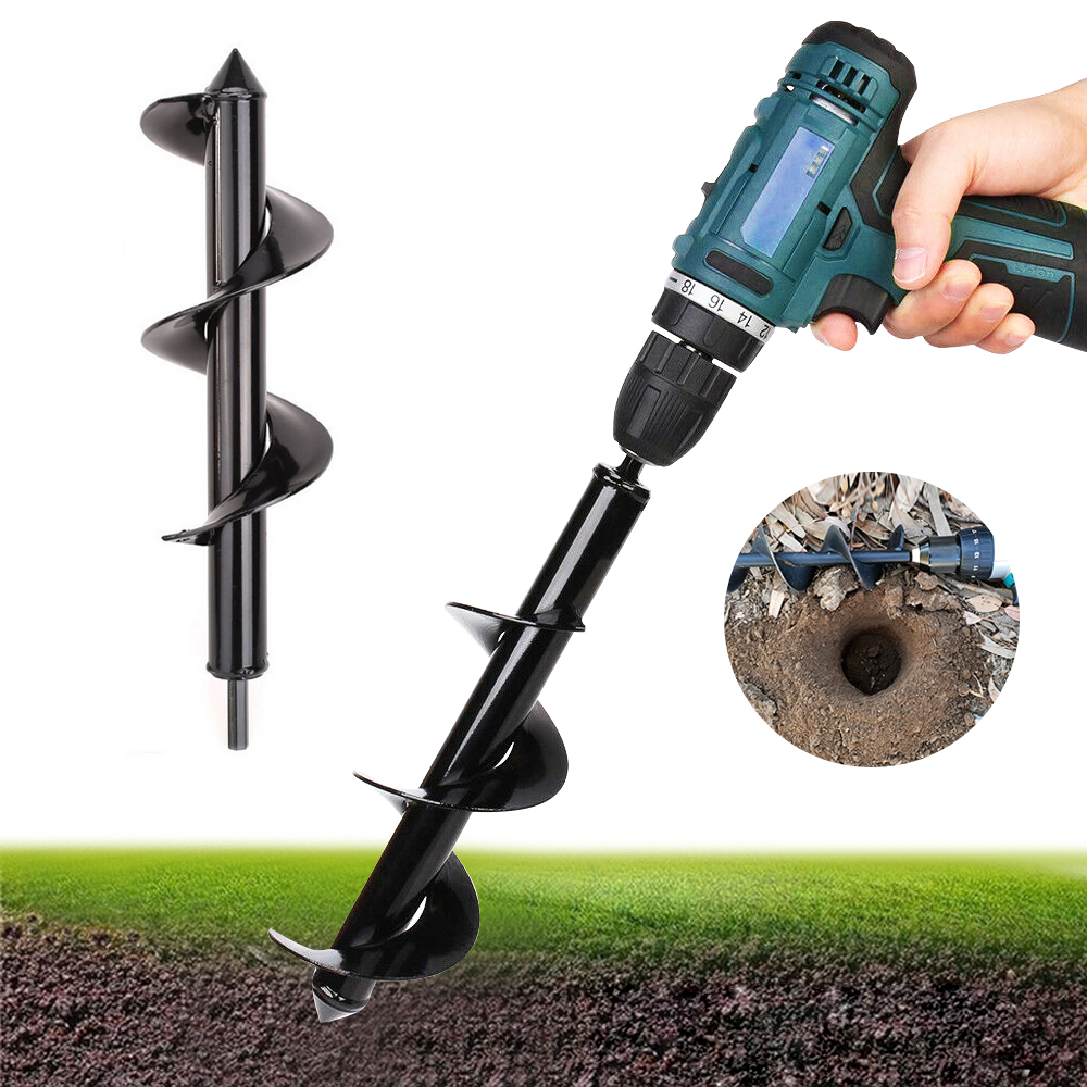 Garden Spiral Drill Bit Flower Planter Earth Auger For Electric Drill Modified Ground Drill Gardening Planting Hole Digger Tools