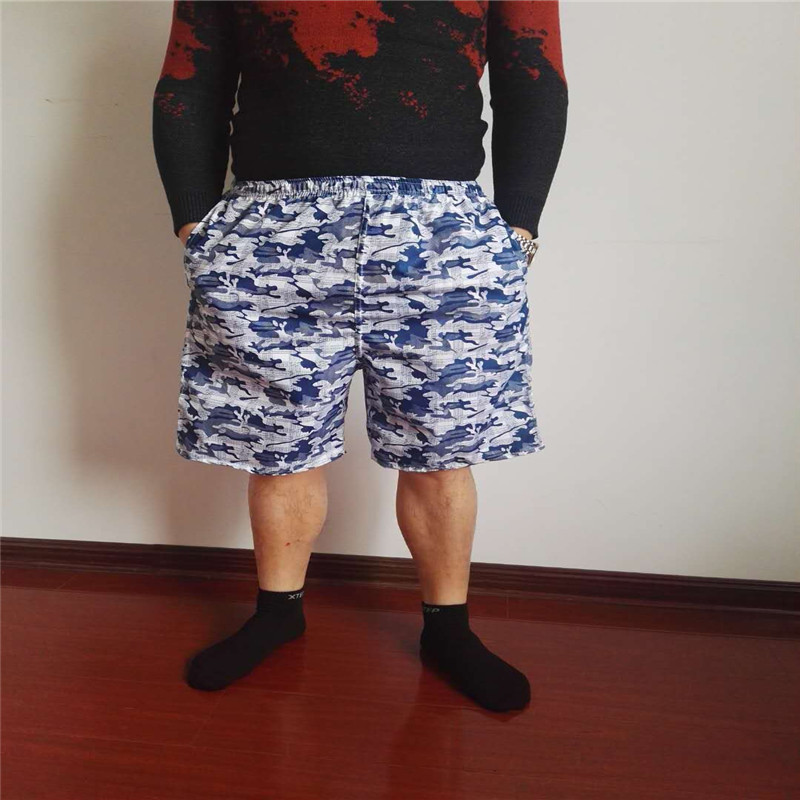 MEN'S Beach Pants Breathable Loose-Fit Quick-Dry Short Casual Sports Swimming Trunks Drifting Large Trunks Booth Goods