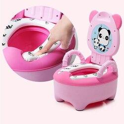 Детский горшок, детское сиденье для обучения, детский туалет, портативный Писсуар для спинки, мультяшная панда, детский туалет, тренажер для...
