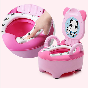 Baby Potty Children's Potty New Training Seat Baby Toilet Portable Backrest Urinal Cartoon Panda Kids Toilet Trainer Bedpan