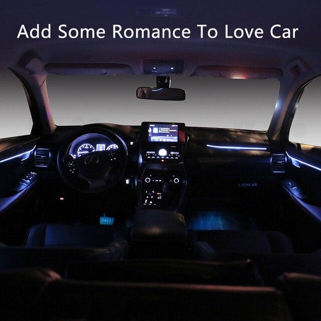 LED Ambient Light Suitable for Lexus NX 2018-2021 64-color car interior atmosphere light trim light atmosphere light modificatio 3