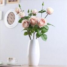Искусственная Цветочная подделка букет роз для дома, вечерние, праздничные, свадебные украшения MF