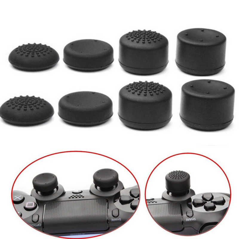 8pcs Joystick Caps Silicone Analog Controller Thumb Stick Grip Thumb stick Cap Cover Key Protector For PS4 Controller Accessorie