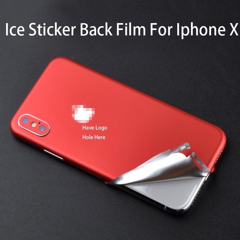 Ice Surface Film For Iphone X XR XS Max Thin Screen Protector Cover Sticker Color Paster Rear Decorative Film Ice Film Back Film