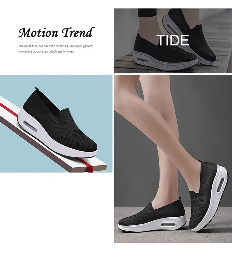 QJ 869-2020 New Spring Autumn Women's Flat Shoes Comfortable Nurse Sneakers-11