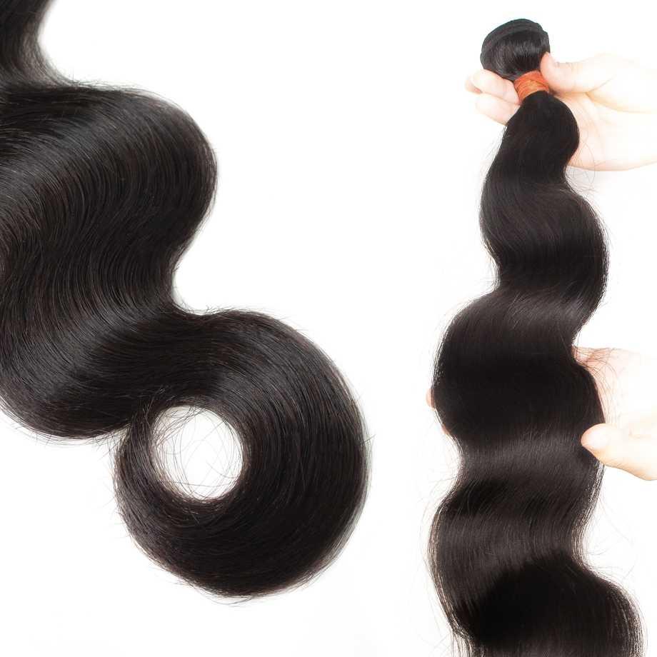 Brasilianische Menschliche Haarwebart Bündelt Verlängerung Körper Welle Extensions 8 zu 30 inch Lange Natürliche für Schwarze Frauen Remy 1 3 4 Bundles