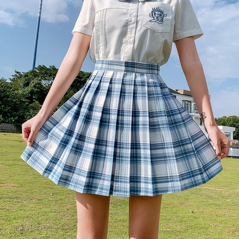 Harajuku Y2k Japan Kawaii Sweet Women JK Mini Skirts Korean Fashion Summer Short Pleated Skirt High Waist Plaid School Uniform