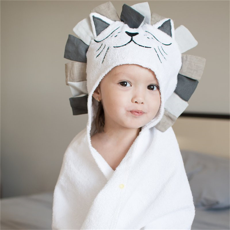100% Cotton Kids Towel Hood Cotton Bathrobe Baby Towel For Kids Beach Poncho Bebe Newborn Towel Soft Bath Poncho Boys Girls