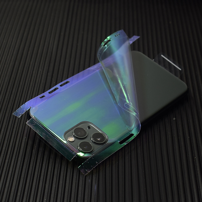 Transparent 3D Carbon Fiber Skins Film Wrap Skin Phone Back Sticker For iPhone