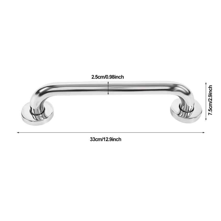 מתכוונן 30cm לעבות נירוסטה אמבטיה אמבטיה לתפוס בר בטיחות יד רכבת עבור אמבט מקלחת אסלה Braces תומך