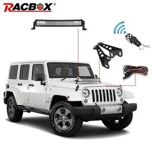 Светодиодный рабочий светильник RACBOX для JEEP Wrangler JK 07-15, 120 Вт, 22 дюйма, комбо-луч + светильник + крепление + пульт дистанционного управления