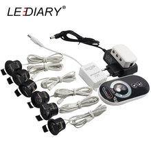 LEDIARY สีดำ MINI Spot LED รีโมทคอนโทรลหรี่แสงได้ดาวน์ไลท์ 1.5W 27 มม.ตัด 110 220V เพดานติดตั้งโคมไฟ