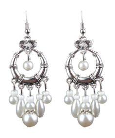 Vintage Big Round Multicolor Bead Earrings Set for Woman Geometry Fanshaped Boho Tassel Long Dreamcatcher Drop Earrings