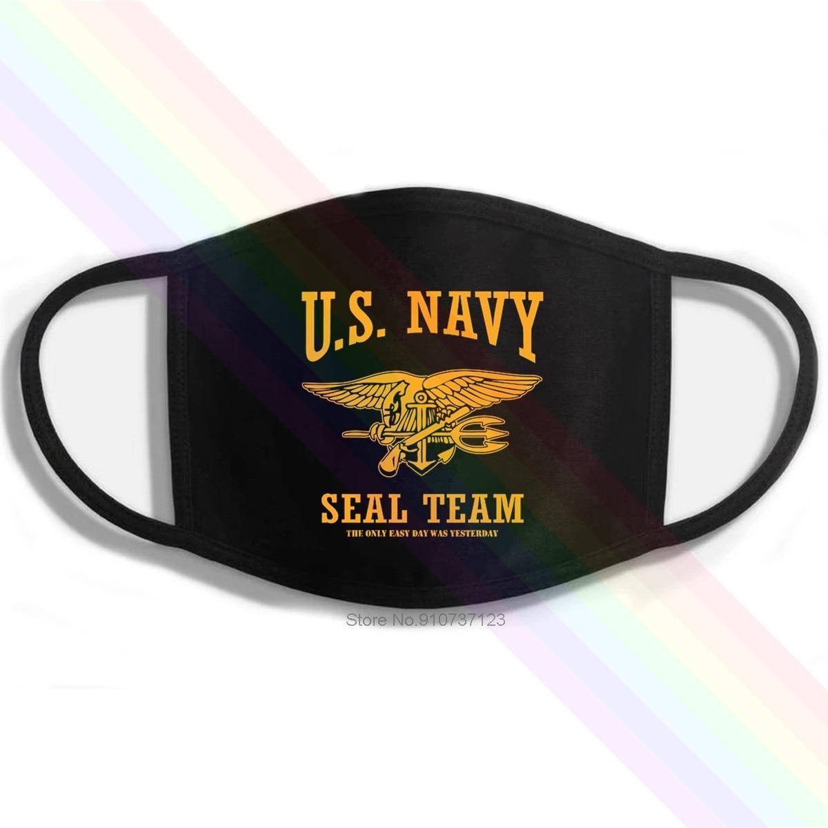 Estilo de fitness marca eua marinha seal equipe o único dia fácil foi ontem impressão lavável respirável reutilizável algodão boca máscara