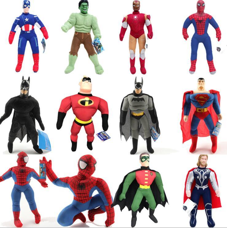 Горячие 42 см Марвел Бэтмен рюкзак, плюшевые куклы набор