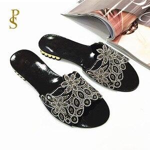 Image 4 - Sapatos planos para mulher chinelos diários para senhoras sapatos com saltos baixos e brocas