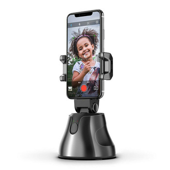 Video Recording Phone Gimbal Handheld Stabilizer Silicone Clamp Black 360Degree Face Tracking Blogger AI Composition Universal