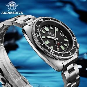 Image 2 - ADDIES Abalone גברים NH35 אוטומטי צלילה לצפות 200M עמיד למים ספיר קריסטל נירוסטה מכאני גברים של שעון