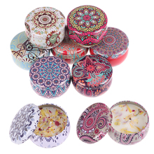 Scented-Candles Fragrance Flowers-Tin-Can Handmade Home-Decoration with Natural Soy-Wax