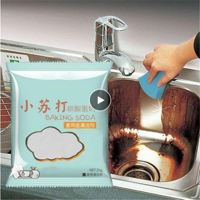 1PC Kitchen Grease Cleaner Soda Powder Decontamination Baking Soda Powders Cleaning Deodorization Household Multi Purpose TSLM1