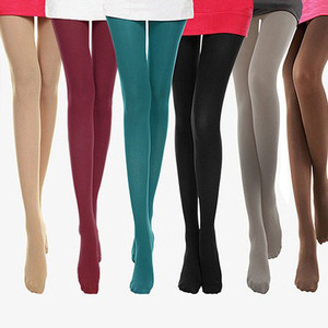 2020 Leggings women Autumn Burnish Opaque Candy Color Leggings Trample sexy elastic stockings medias de mujer